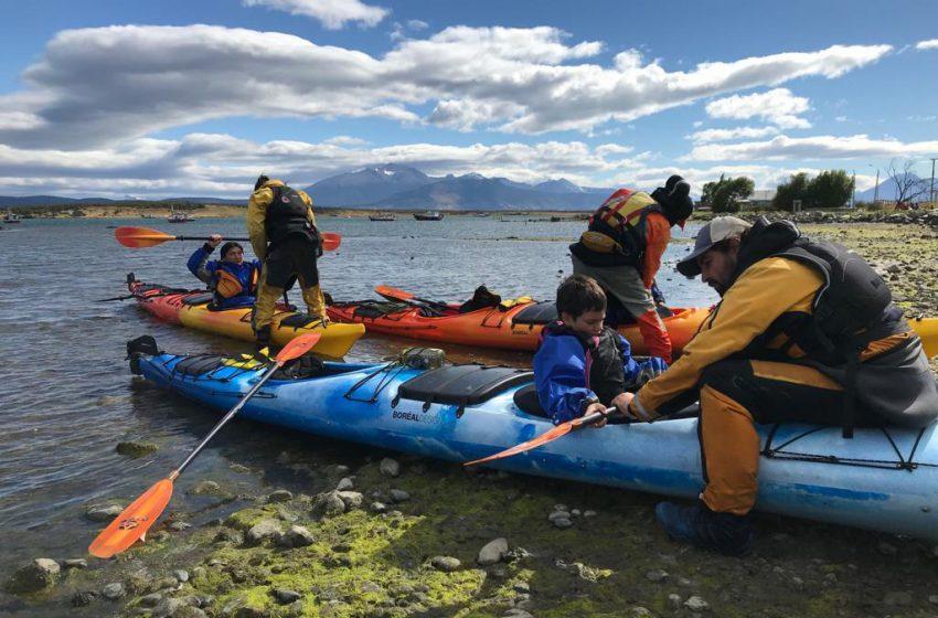 Se realizó la primera jornada de Kayak social e inclusivo en Puerto Natales