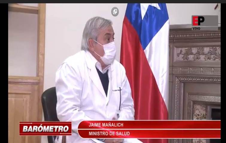 Entrevista a ministro de Salud Jaime Mañalich