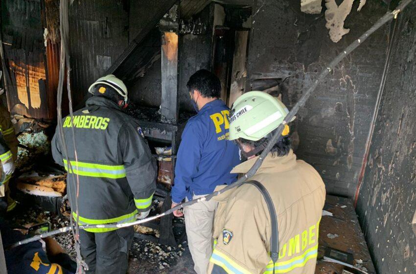 PDI detuvo al presunto autor del incendio de una  vivienda ocurrido en octubre en Puerto Natales