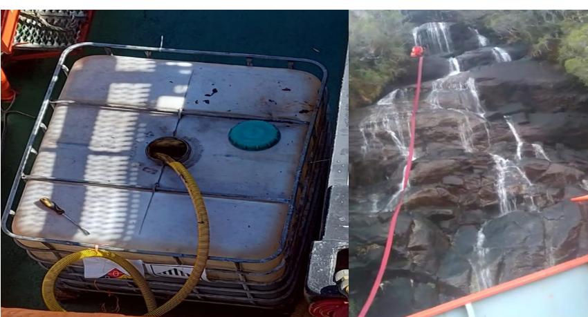 Tripulantes de naves salmoneras denuncian falta de agua para beber y vertido de líquidos contaminantes al mar