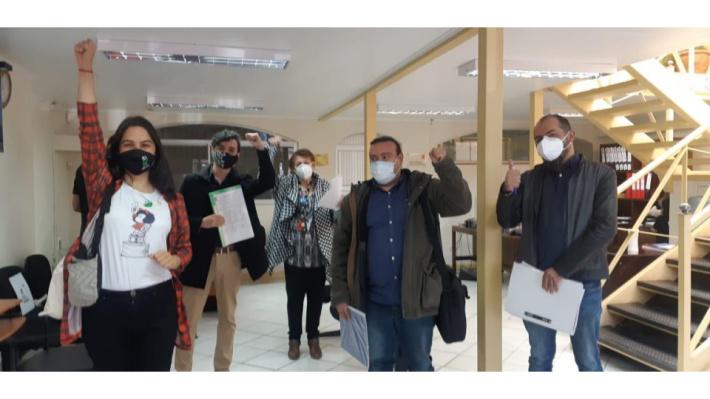 Con unidad territorial Coordinadora Social de Magallanes inscribe sus candidaturas en el Servel