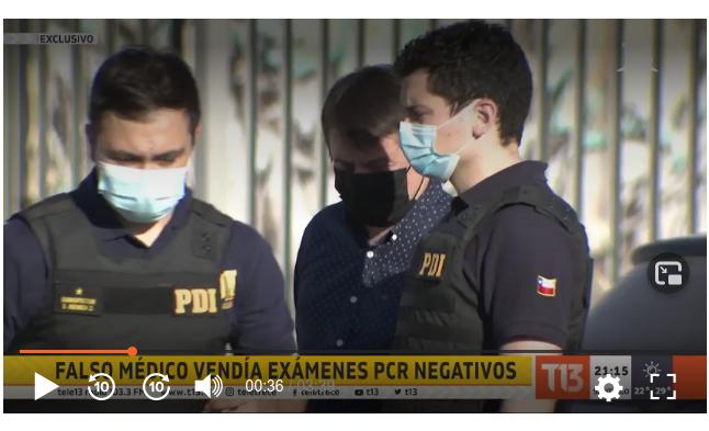 Ex funcionario municipal natalino fue detenido en Santiago  por ejercicio ilegal de la profesión de médico