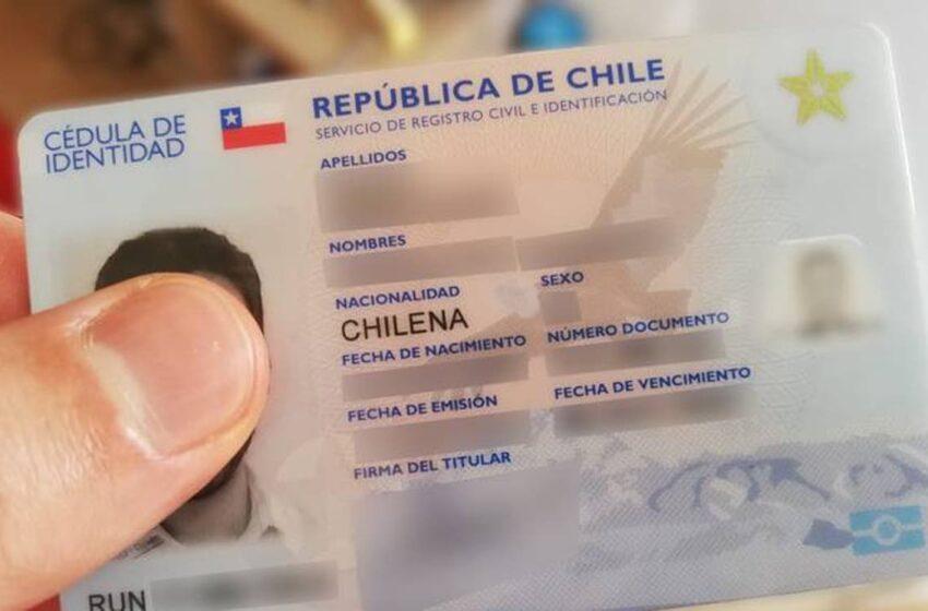 Gobierno extiende vigencia de cédulas de identidad de chilenos vencidas en 2020 y 2021