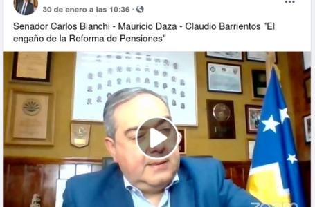 Senador Carlos Bianchi – Mauricio Daza – Claudio Barrientos «El engaño de la Reforma de Pensiones»