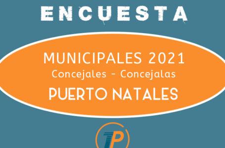 Encuesta Municipales 2021: Si las elecciones fueran este próximo domingo, ¿Por quién votarías para Concejal/a de Puerto Natales?