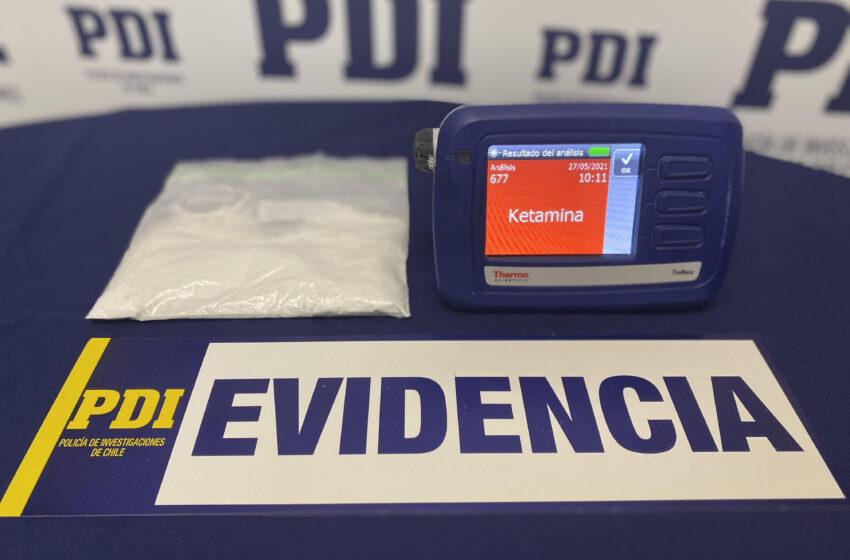 PDI incauta por primera vez Ketamina en Punta Arenas y detiene a sujeto por tráfico de drogas