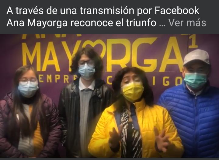 Coletazos de la derrota: Ana Mayorga se despide de la política